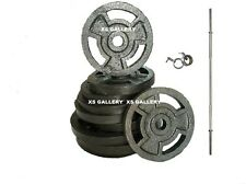 Home Gym 30 Kg Cast Iron Weight Plates + 1 Rod ( 5 Feet ) With Locks