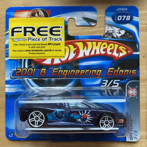 2006 HOTWHEELS SPY Force 2001 B Engineering EDONIS 3/5 Blu Menta su carta aperta