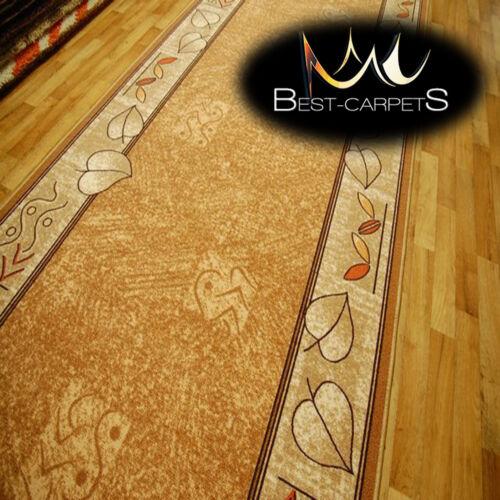 Runner Rugs LEANDRO beige modern NON-slip Stairs Width 67cm-133cm extra long