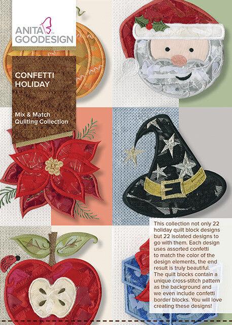 Anita Goodesign Confetti Holiday Embroidery Machine Design Cd For Sale Online Ebay