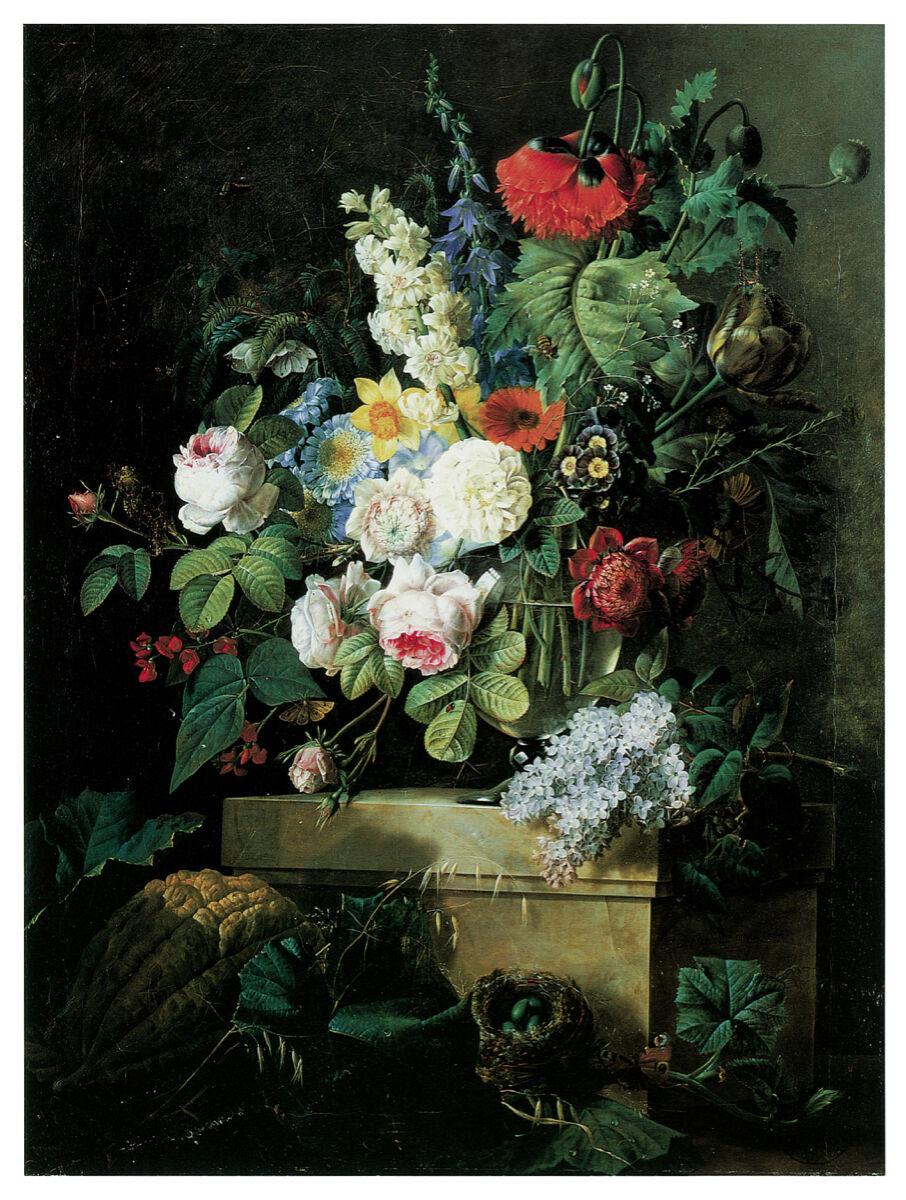 16x20 Decoration CANVAS.Interior room design art.Flower vase painting.6643
