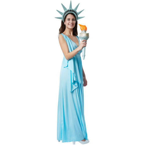 Costume per Donna Dea della libertà Veste Smanicata Party Carnevale nuovo