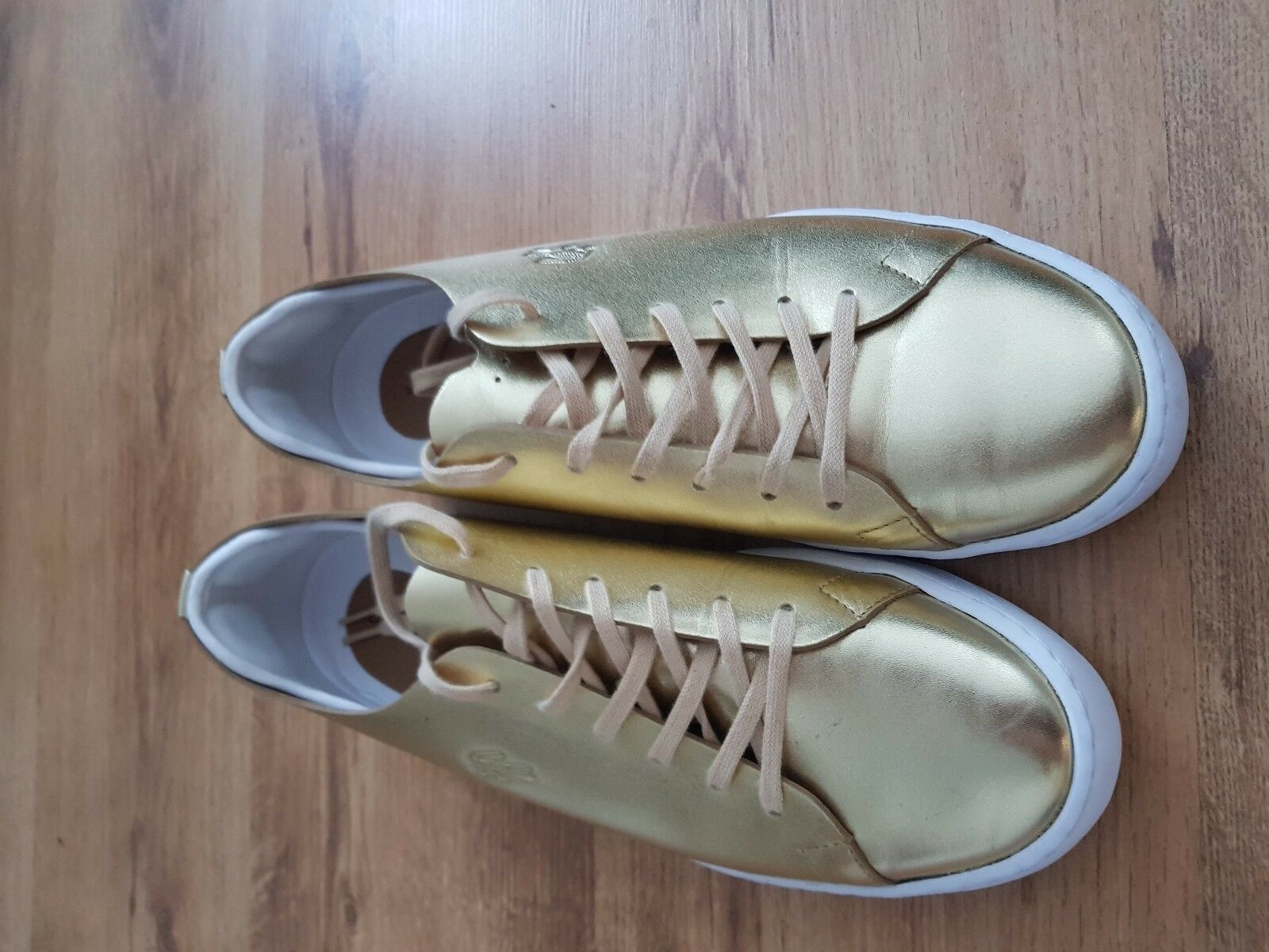 New Lacoste Womens Eyyla 317 Trainers gold Leather shoes Trainers Sneakers UK8