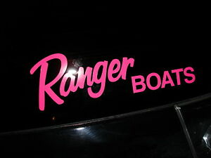 RANGER BOATS Sticker PINK Bass YOU GET Fish Boat DECAL EBay - Ranger bass boat decals