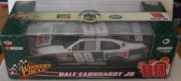 2008 DALE EARNHARDT JR  88 MOUNTAIN DEW OLD SCHOOL NEW SCHOOL RETRO 1 24