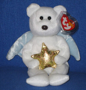 e5a198a2c8f TY GOLD STAR the ANGEL BEAR BEANIE BABY - MINT with MINT TAG ...