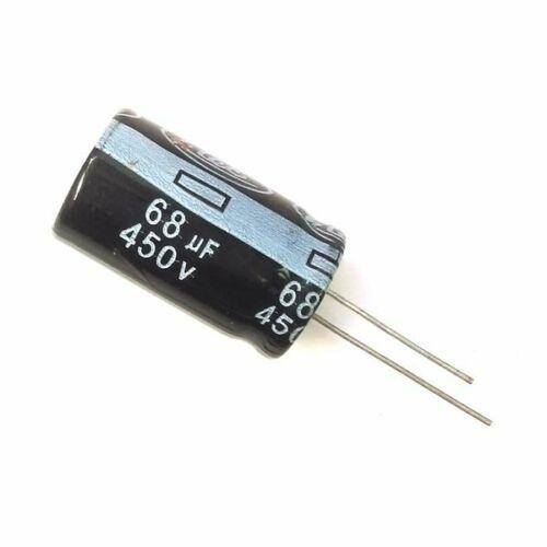 5PCS 450V 68uF 450Volt 68MFD 105C Aluminum Electrolytic Capacitor 18mm×30mm