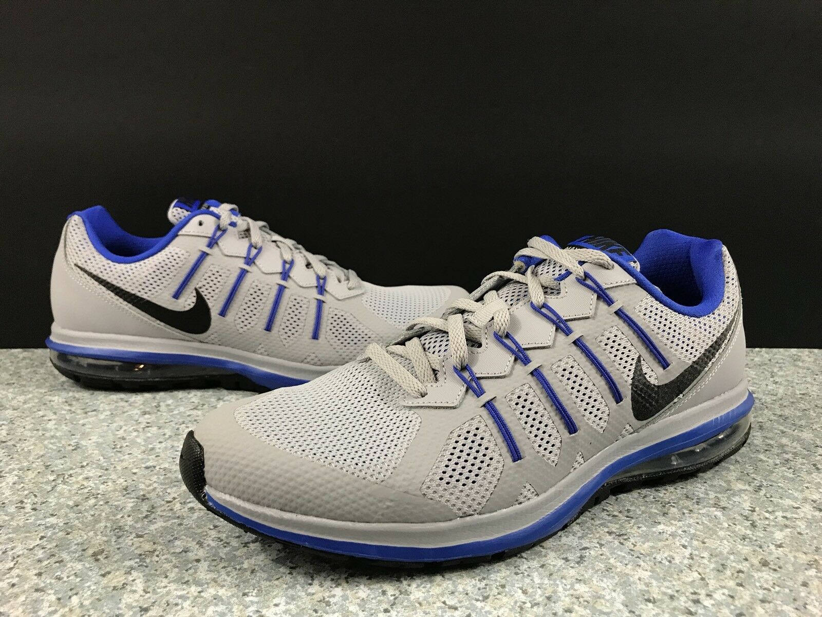 NIKE MEN'S AIR MAX DYNASTY GREY BLUE RUNNING SHOES SIZE 13 816747 008