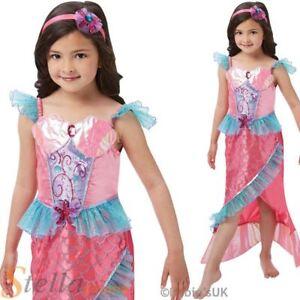 Filles Deluxe Little Mermaid Costume Ariel Livre Semaine Fancy Dress Costume Conte De Fées