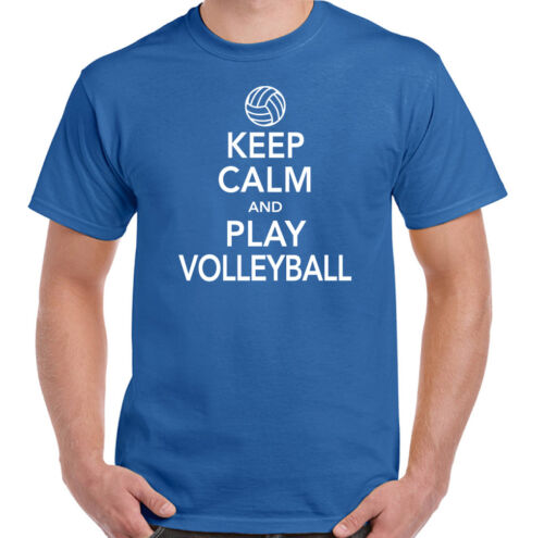 Keep Calm /& Play Volleyball Mens Funny T-Shirt