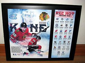 Patrick Kane Point Streak 2015 2016 Chicago Blackhawks Sublimated Plaque Photo