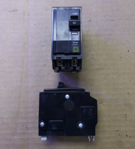 NEW Square D QO QO260 2 pole 60 amp Circuit Breaker YELLOW SNAP IN