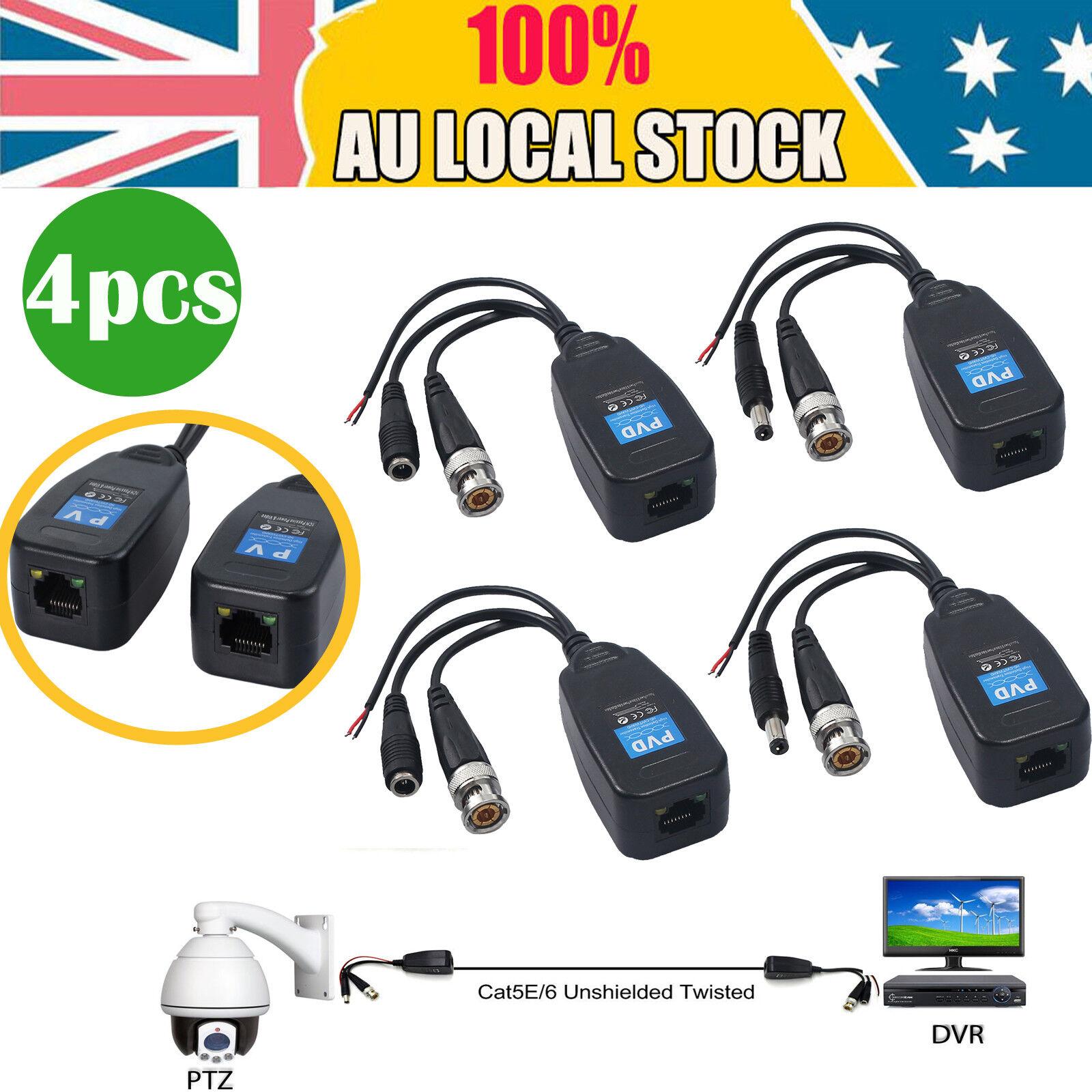 New 50pcs//Lot Coax CAT5 To Camera CCTV BNC Video Balun Connector adapter