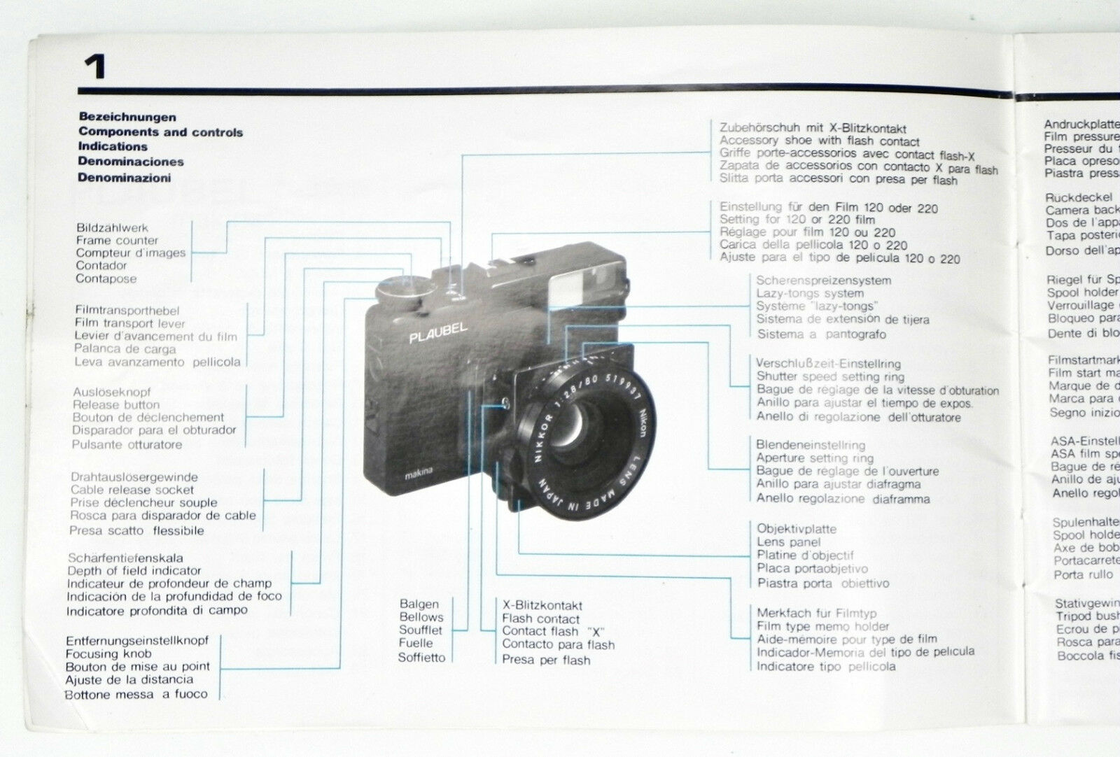 Plaubel Makina 670 Instruction Book