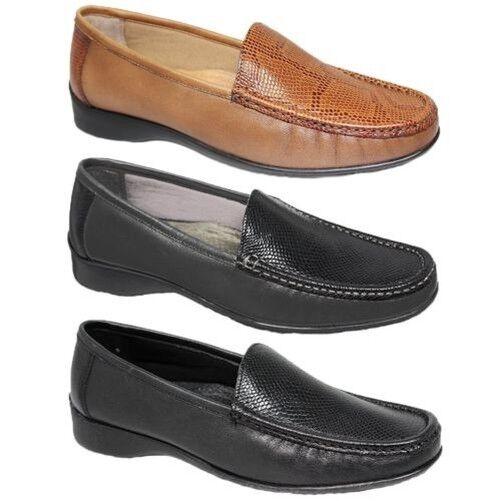 FLV002 Jenny Zweiton Mokassin Leder Schlangenmuster Slipper Ballerinas Schuhe  | Nicht so teuer