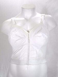 b17b8f94559 Exquisite Form 7530 Long Line Front Close Posture Bra 34B White NEW ...