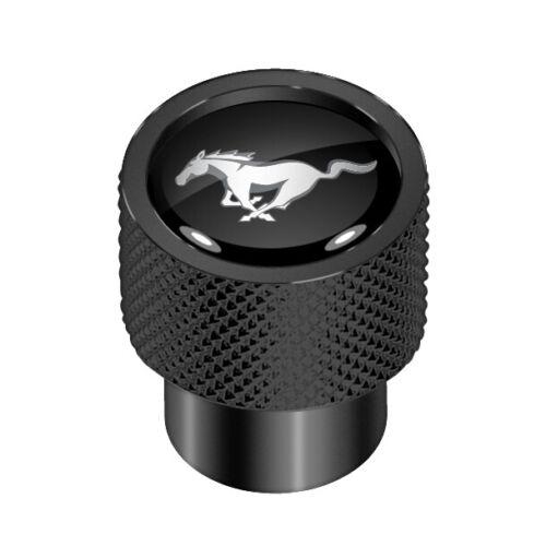 Ford Mustang en Noir Sur Noir Aluminium Tire Valve Stem Caps