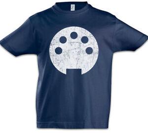 Midi-I-Kinder-Jungen-T-Shirt-Techno-MC-DJ-Audio-Electro-Synthesizer-Music-Plug