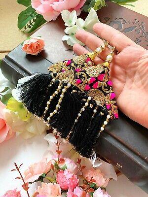 1 Pair Latest Indian Zari Stone Sequin Latkans Decorative Tassels Accessories