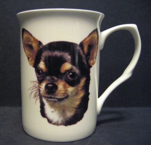 Chihuahua Smooth Coated Head B//F Dog Fine Bone China Mug Cup Beaker