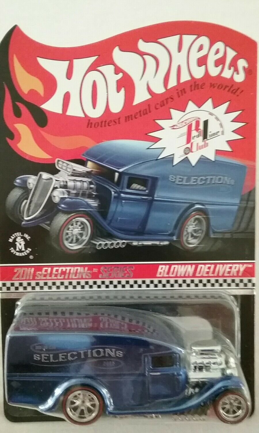 HOT WHEELS BLOWN BLOWN BLOWN DELIVERY 2011 SELECTIONS SERIES RLC RED LINE CLUB CAR 1 of 9408 004c55