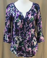 St. John's Bay, Small, Purple Floral Top, With Tags