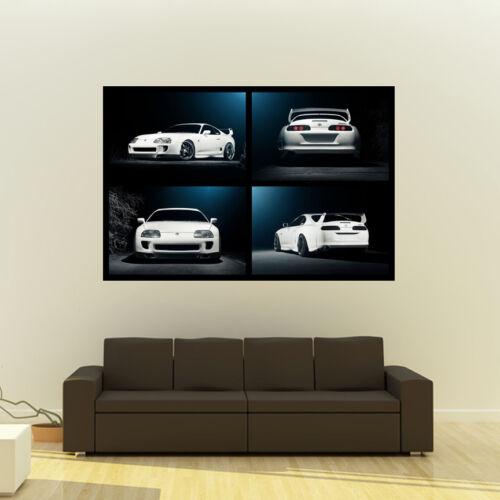 "Poster of Toyota TT Supra MKIV 2JZ-GTE JZA80 Giant Huge Collage Print 54/""x36/"""