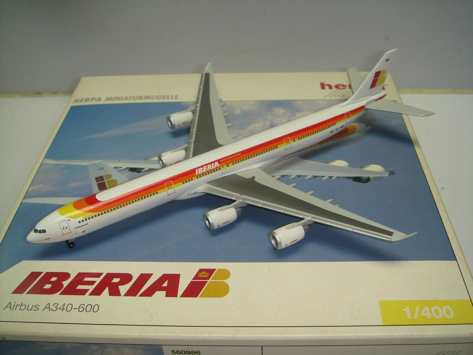 Herpa Wings 400 Iberia IB A340-600  1990s Coloree - Gaudi  1 400