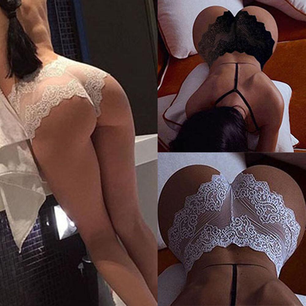 EG _ Damen durchsichtige Spitzenhöschen nahtlose Unterhosen Sexy Unterwäsche