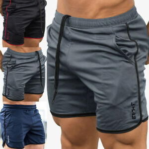Casual-Men-039-s-GYM-Shorts-Training-Running-Sport-Workout-Jogging-Pants-Trousers-Bu