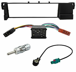 Radio-Panel-Adapter-Cable-Set-for-BMW-3er-E46-on-ISO-Rundpin-Fakra-1-DIN