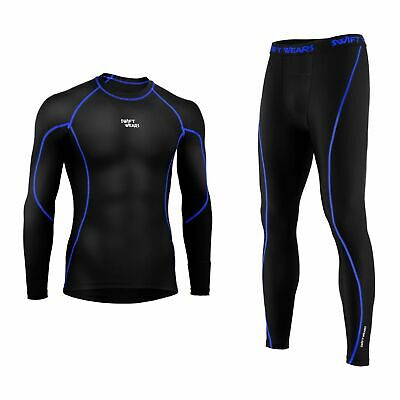 Sport Leggings Set Mens Compression Armour Base Layer Top Fitness Skin Shirt