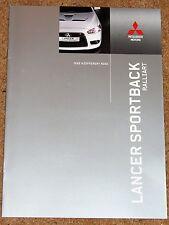 2009 MITSUBISHI LANCER SPORTBACK 2.0 RALLIART Sales Brochure - Mint Condition