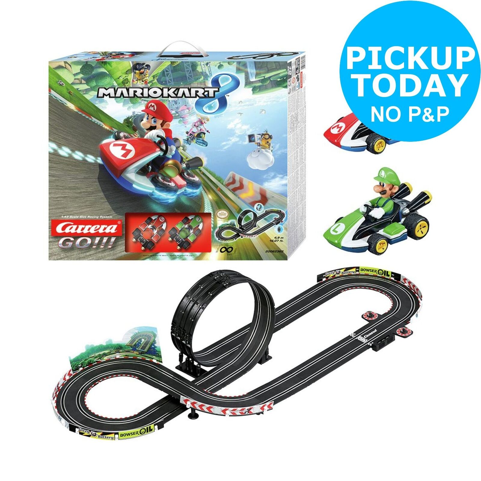 Carrera GO    Mario Kart 8 Slot Race Set 6+ Years