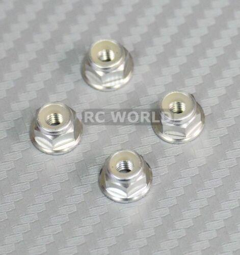 Silver 1//10 WHEEL NUT Aluminum M4 NYLON NUT CAP -8 pcs- Blue 12PCS Purple