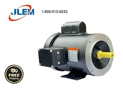 1.5 HP 1800 RPM SINGLE PHASE ELECTRIC MOTOR  145TC FREE SHIPPING
