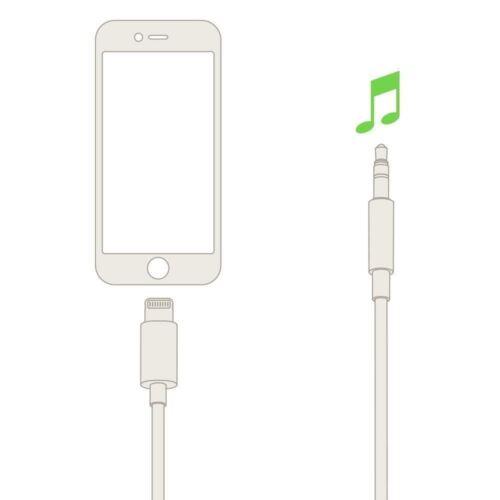 Cable de Audio AUX Belkin 3.5 mm con conector Lightning para 8//7 Plus iPhone X