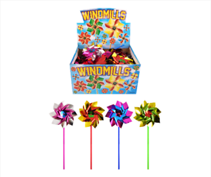 Assorted-Foil-Windmills-31-cm-Sticks-4-Assorted-Colours-Available-10-20-or-30