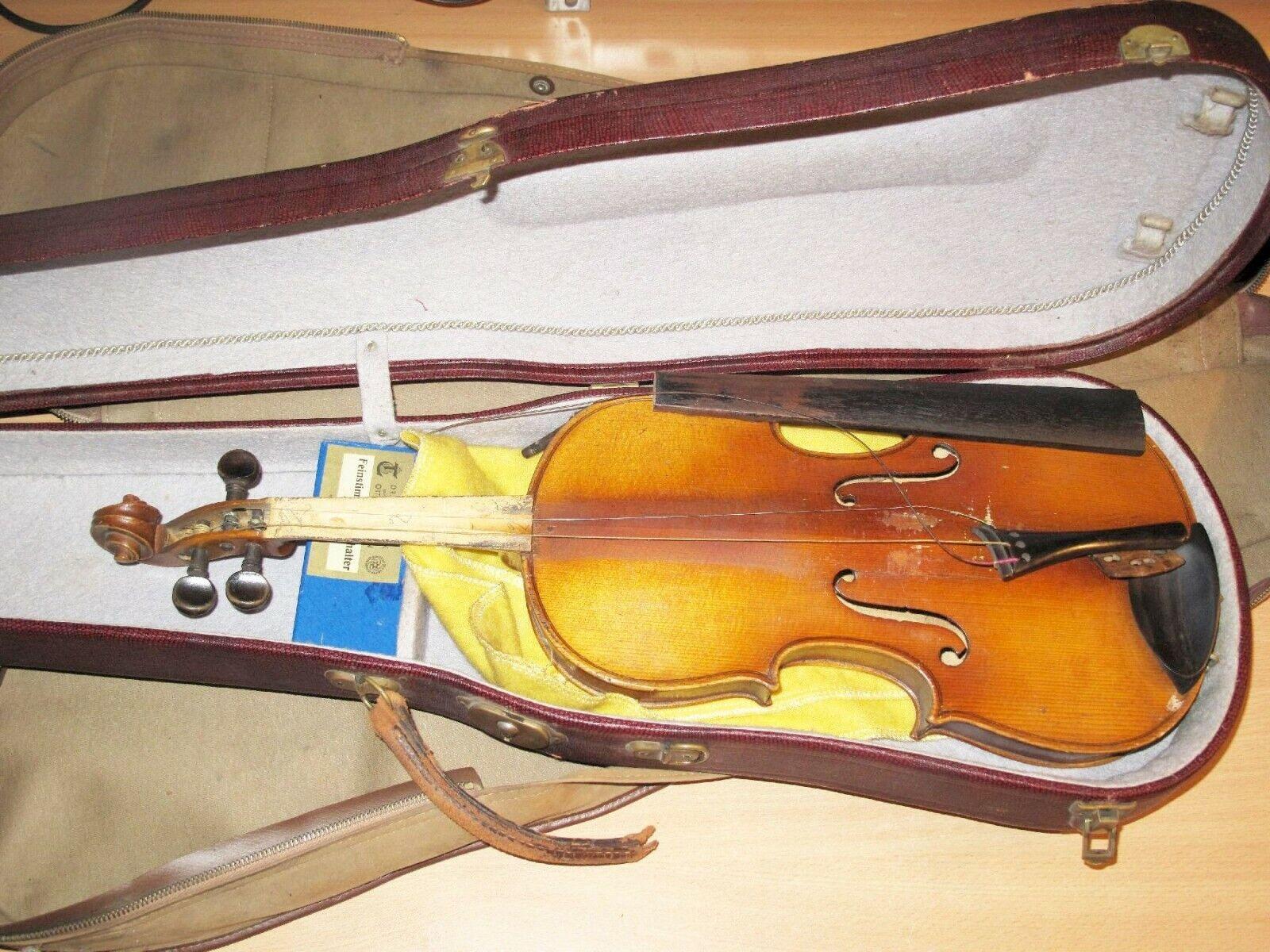 Alte Geige mit Case && Zubehör