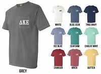Delta Kappa Epsilon Fraternity Dke Letters Comfort Colors Pocket Shirt -