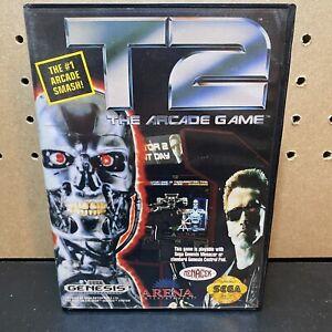 T2-The-Arcade-Game-Sega-Genesis-1992-Authentic-Tested-CIB-W-Manual-Fast-Ship