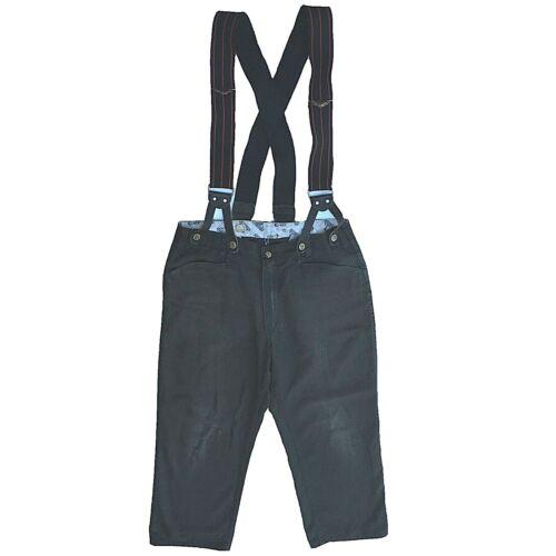 Mens Suspender Pants 34 Ben Davis Gray Denim Ape S