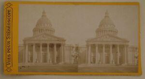 Il-Pantheon-Parigi-Francia-Foto-Stereo-L44-Vintage-Albumina-c1870
