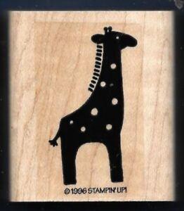 GIRAFFE-DOTS-Wildlife-Animal-Art-Safari-Stampin-Up-1996-wood-mount-RUBBER-STAMP