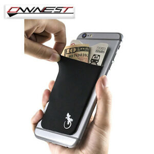 Lycra-Mobile-Phone-Stick-On-Wallet-Credit-Card-Holder-Adhesive-Soft-for-iPhone