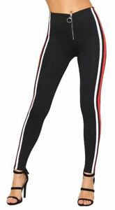 bb7402e339f19 Image is loading Sexy-Womens-Zip-Leggings-Stretch-Jeggings-Ladies-Block-