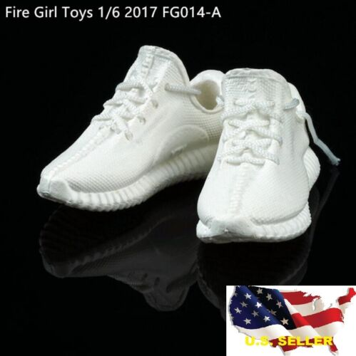 1//6 Scale Sneaker Blanc Adidas Homme Lady Sport Running Phicen Hot Toy Yeezy ❶ USA ❶
