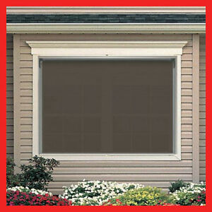 New 210 width x 210 drop outdoor roller blind pvc screen for Exterior no chain window shade
