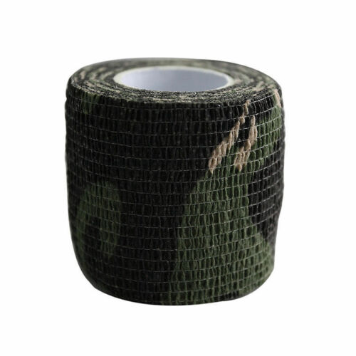 Self-adhesive Non-woven Camouflage WRAP RIFLE GUN Hunting Camo Stealth Tape/_ws