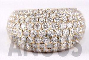 Real-14K-Yellow-gold-3-49-ct-Diamond-Round-Anniversary-Band-Engagement-Ring